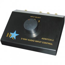 ASWITCH-3 STEREO INPUT CONTROL BOX