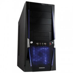 MODECOM VIPER BLUE LED FAN COMPUTER CASE WITHOUT POWER SUPPLY