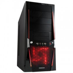 MODECOM VIPER RED LED FAN COMPUTER CASE WITHOUT POWER SUPPLY