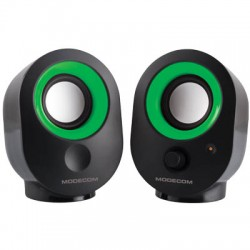 MODECOM MC-XS05 BLACK-GREEN SPEAKERS