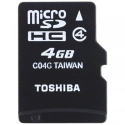 TOS MICROSD 4GB HS STANDARD WITH ADAPTER SD-C04GJ BL5A