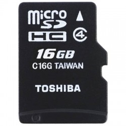 TOS MICROSD 16GB HS STANDARD WITH ADAPTER SD-C16GJ BL5A