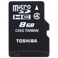 TOS MICROSD 8GB HS STANDARD WITH ADAPTER / SD-C08GJ(6
