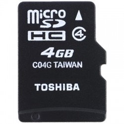 TOS MICROSD 4GB HS STANDARD WITH ADAPTER / SD-C04GJ(6A