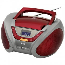 AEG SR 4358 RED STEREO RADIO WITH CD/MP3 005963