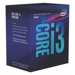 INTEL CPU Core i3-8100, Quad Core, 3.6GHz, 6MB Cache, LGA1151