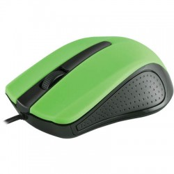 MODECOM MC-M9 BLACK-GREEN USB WIRED OPTICAL MOUSE
