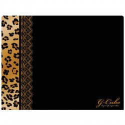 GML-20B LUX LEOPARD-BROWN MOUSE PAD