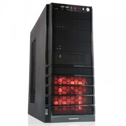 MODECOM PRO-STATION RED LED FAN COMPUTER CASE WITHOUT POWER SUPPLY