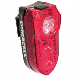 DURACELL BIK-B02RDU 00914 BICYCLE LIGHT REAR 3 LED + 2xAAA