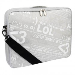 "GNCR-715S2 (SILVER) 15"" MESSENGER BAG"