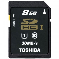 TOS SDHC 8GB CLASS 10 HS PROFESSIONAL STD UHS/ SD-T008UHS1